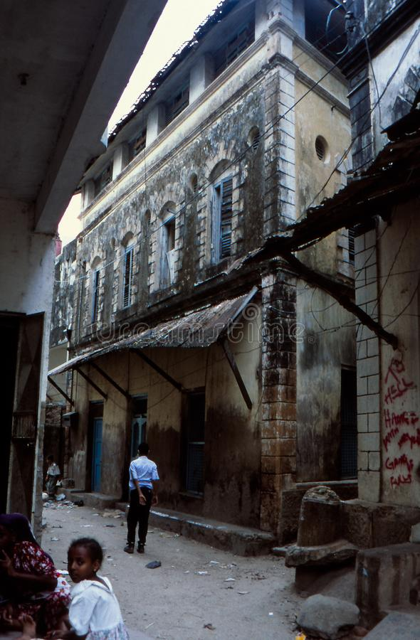 街景老城蒙巴萨 免版税库存照片