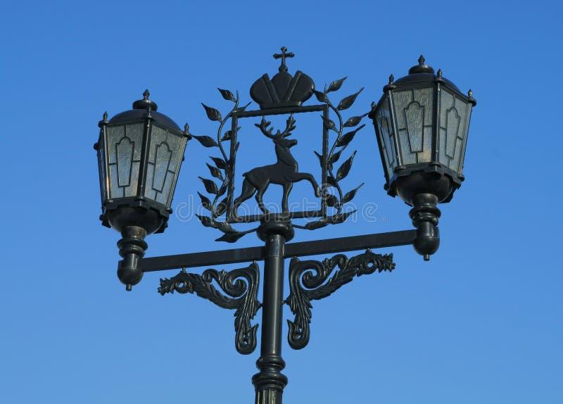 街灯在下诺夫哥罗德 库存图片