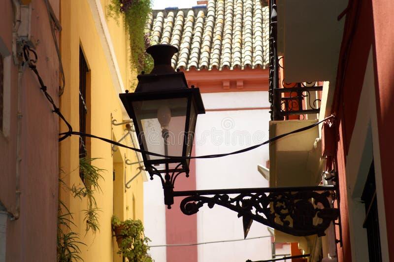 街灯在市塞维利亚 图库摄影