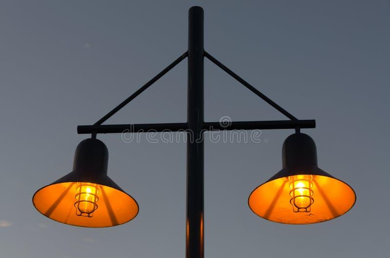 街灯在温哥华 免版税库存照片