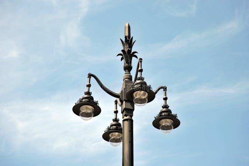 街灯在西班牙首都的中心 库存图片