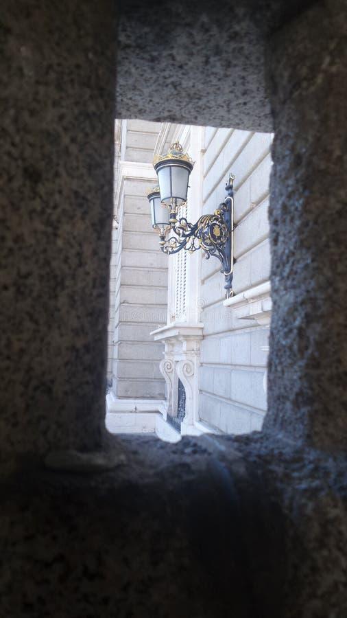 街灯在马德里 免版税库存图片