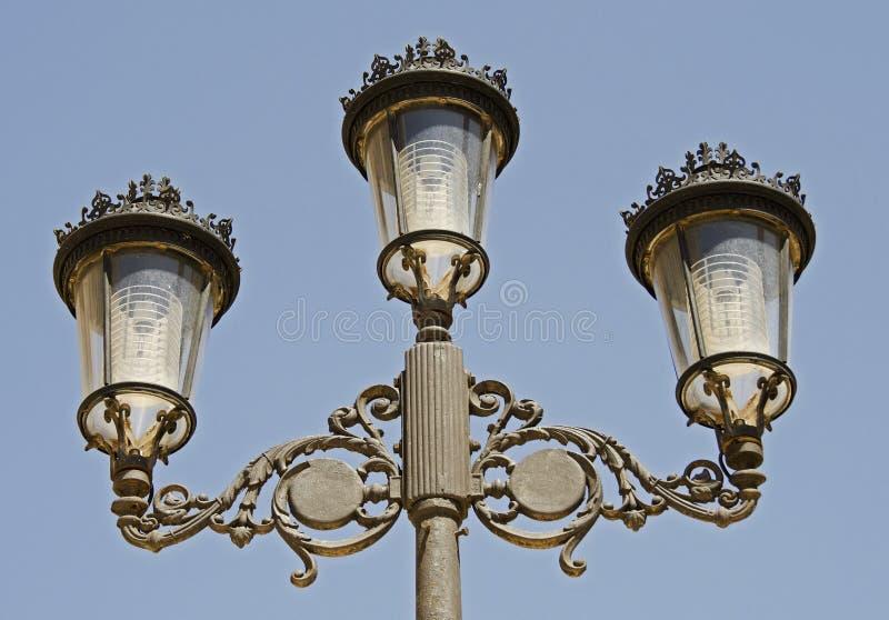 街灯,卡塔赫钠在西班牙 免版税库存照片