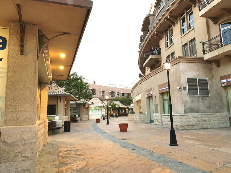 街灯Mirdif住宅区 库存照片