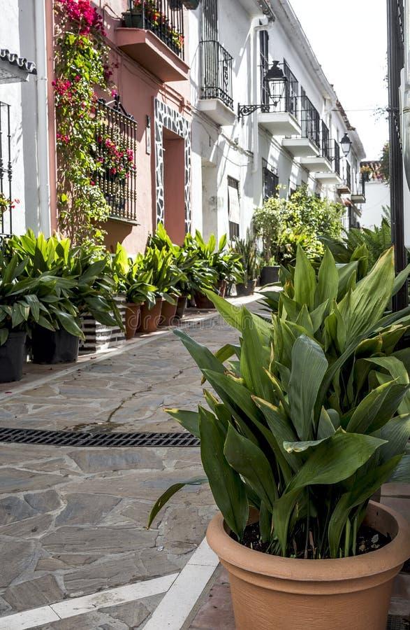 街道、马尔韦利亚角落和细节  西班牙 免版税图库摄影