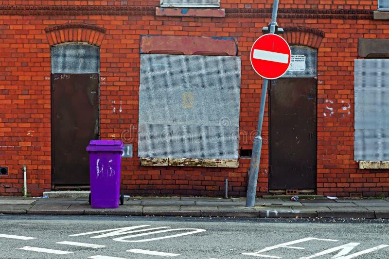 街道上遗弃房子 免版税图库摄影