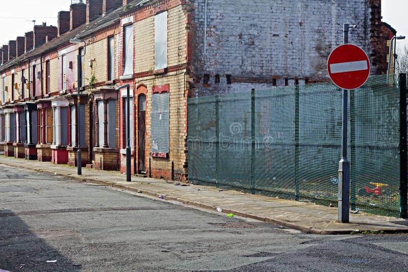 街道上遗弃房子 库存图片