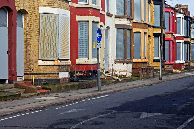 街道上遗弃房子 免版税库存图片