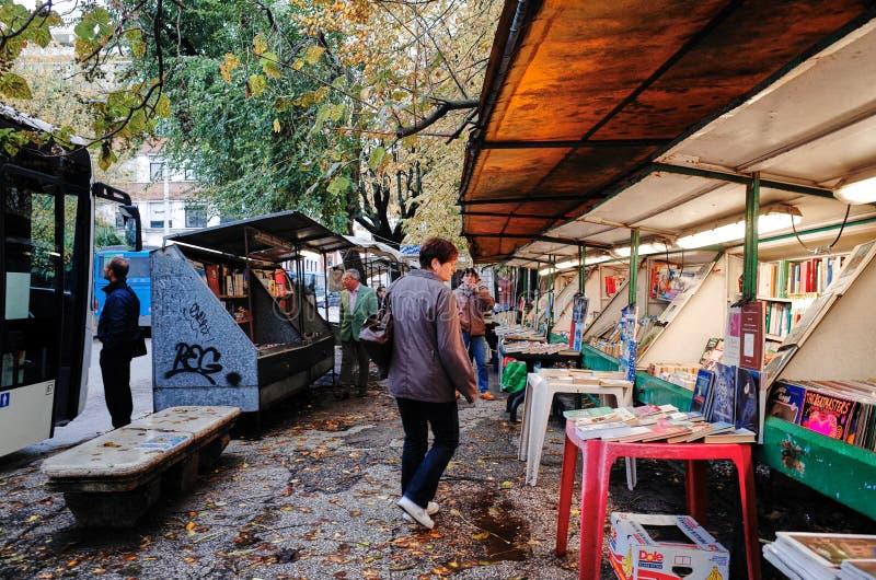 街道书店,安科纳,意大利 免版税库存图片