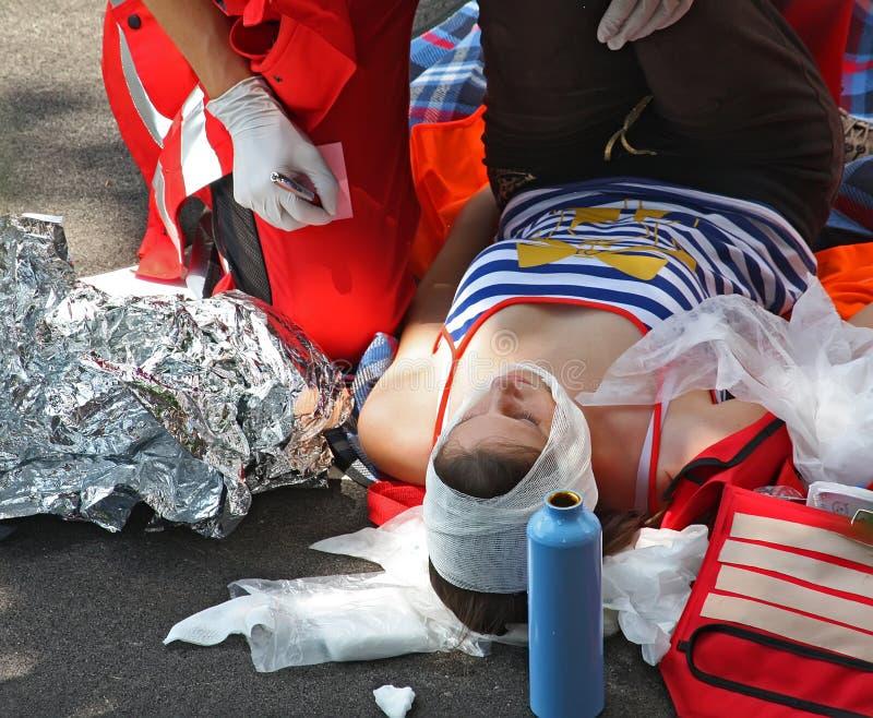 街道事故 图库摄影