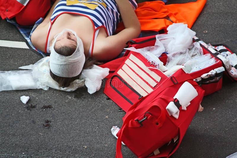 街道事故 免版税图库摄影