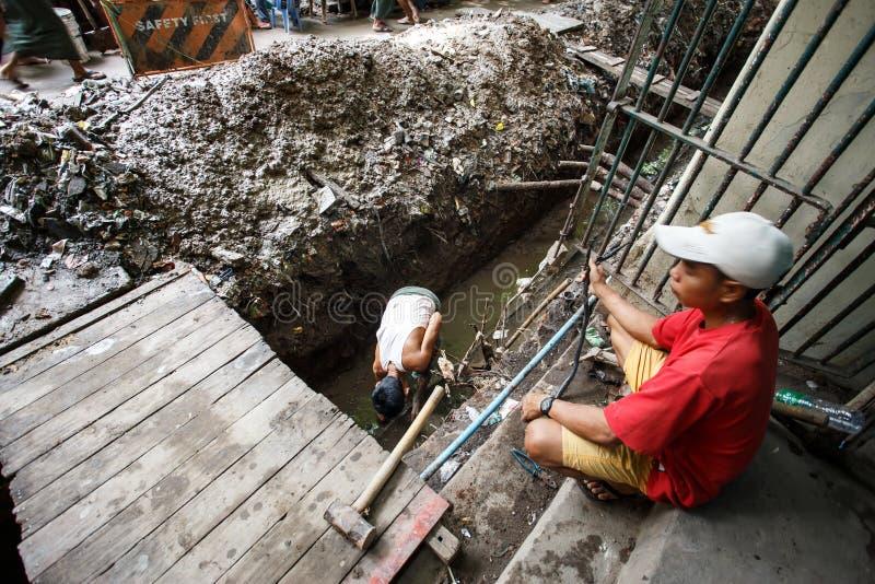 街道人生的仰光,缅甸 库存照片