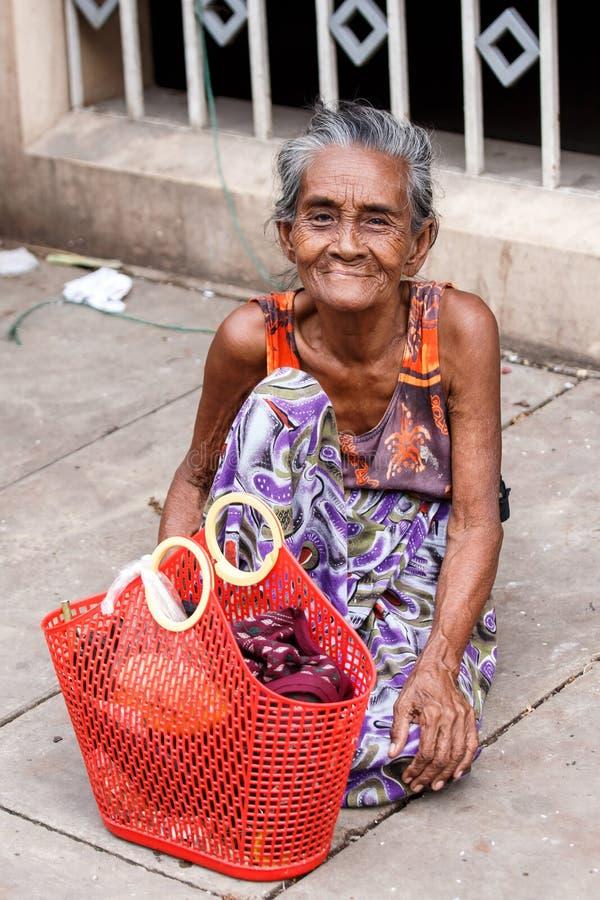 街道人生的仰光,缅甸 库存图片