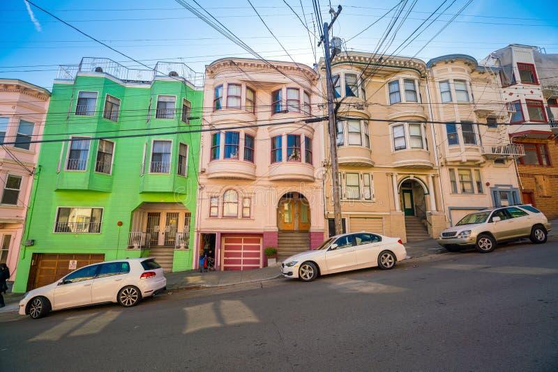 街道停车处在旧金山 免版税库存照片