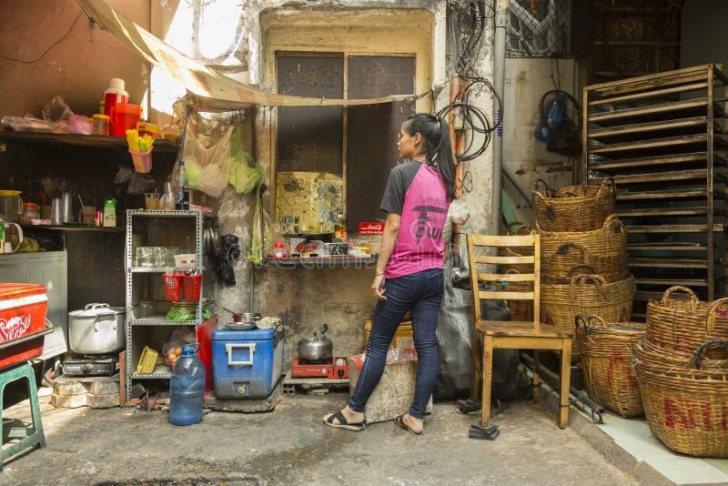 街道厨房胡志明,越南 免版税库存照片