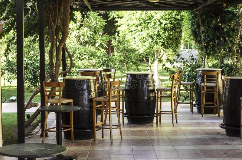 街道咖啡馆在旅馆在洪加达 库存图片