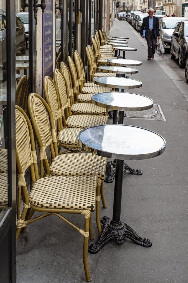 街道咖啡馆,巴黎,法国 库存图片