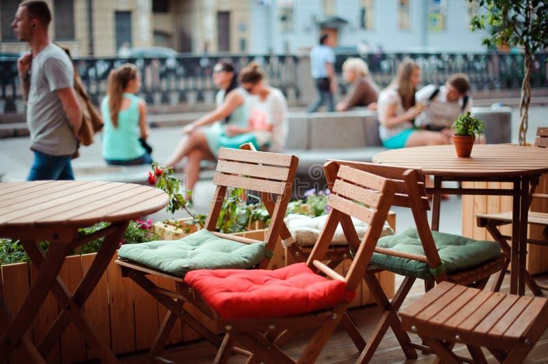 街道咖啡馆 免版税库存图片