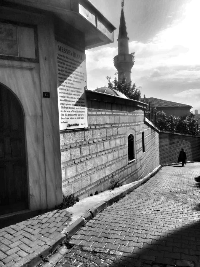 街道在伊斯坦布尔耶路撒冷旧城 库存图片