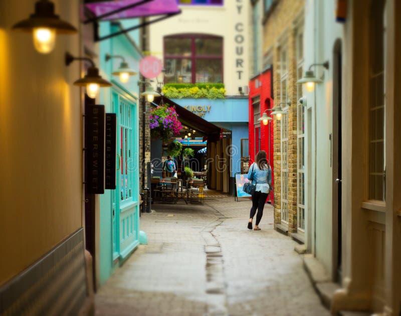 街道在伦敦,伦敦苏豪区 免版税库存图片