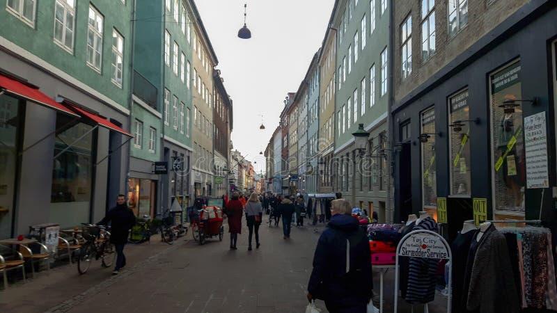 街道在哥本哈根 免版税库存照片