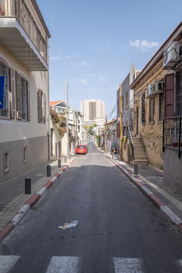 街道在尼夫Tzedek在特拉维夫以色列 免版税库存照片