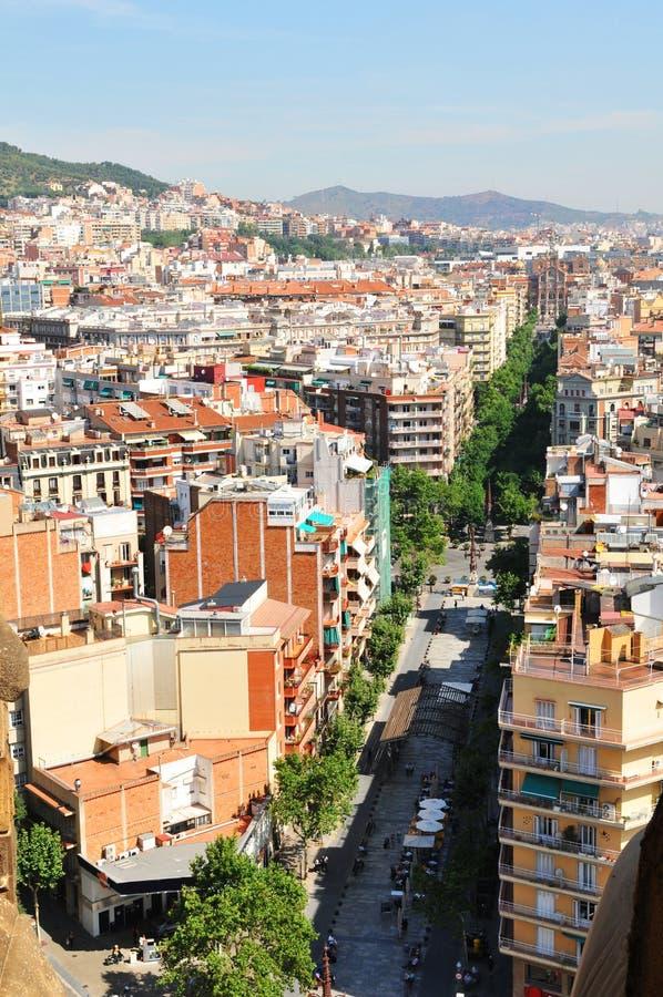 街道在巴塞罗那 免版税库存照片