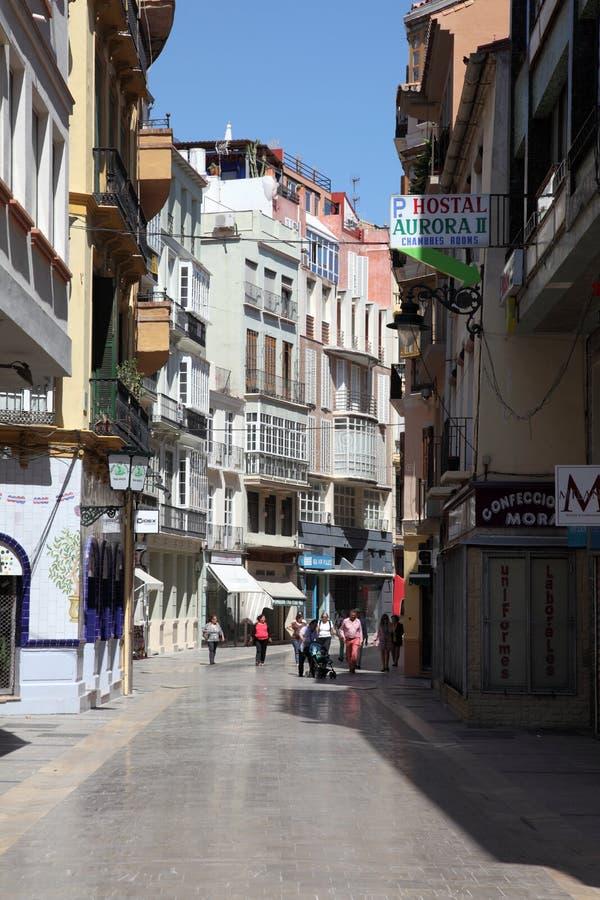街道在市马拉加 免版税库存图片