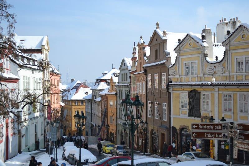 街道在布拉格的中心 图库摄影