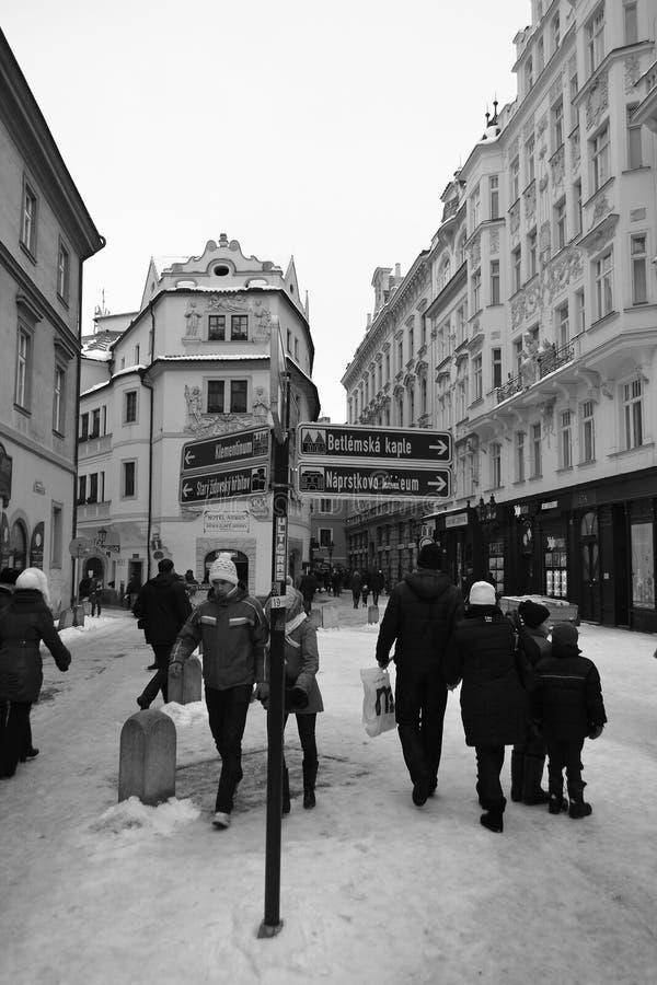 街道在布拉格的中心 免版税库存图片