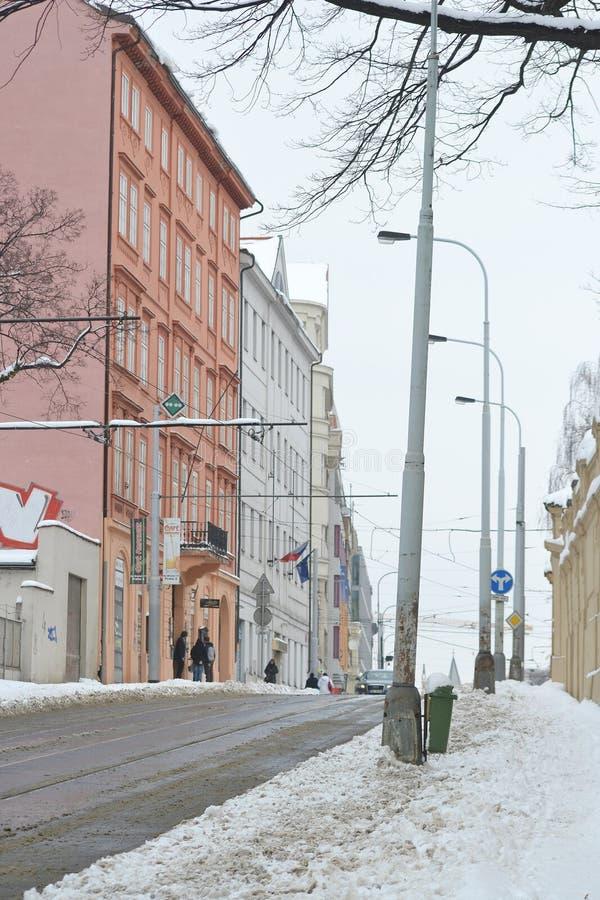 街道在布拉格的中心 库存照片