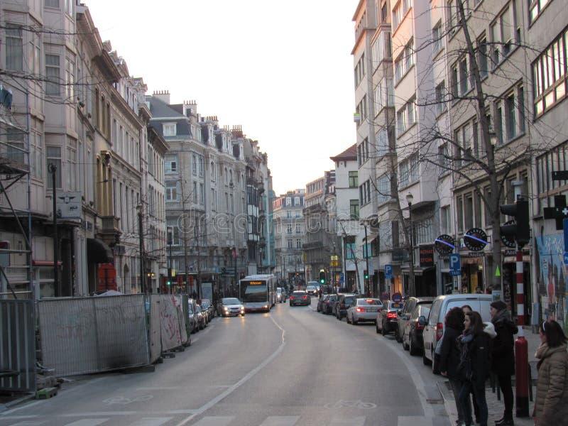 街道在布鲁塞尔 免版税库存图片