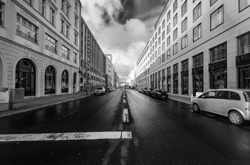 街道在柏林的中心 图库摄影