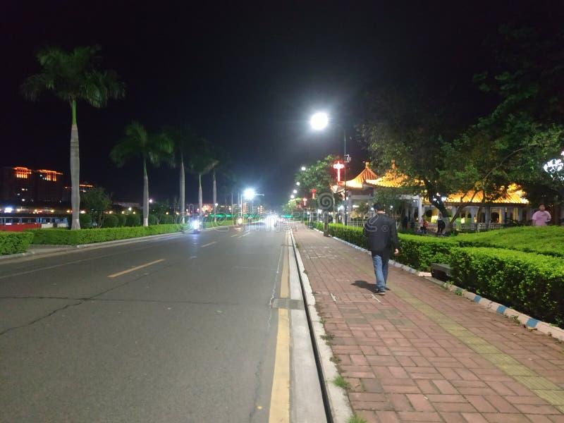 街道在梅州,广东,瓷 图库摄影