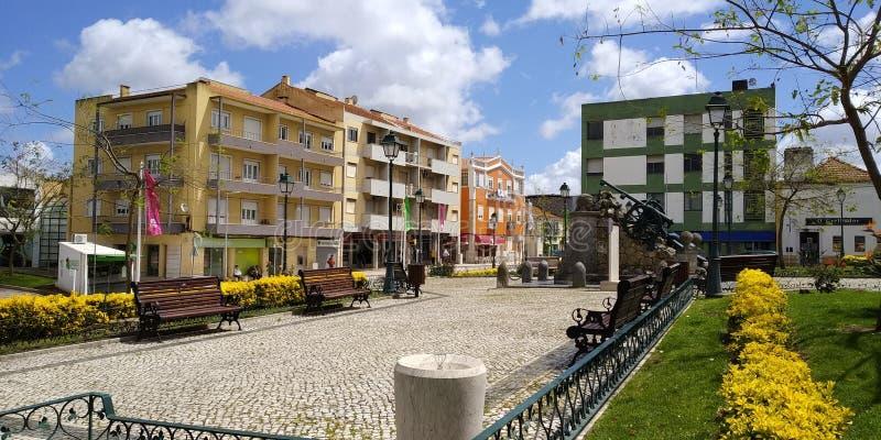 街道在洛雷斯市,葡萄牙 免版税图库摄影
