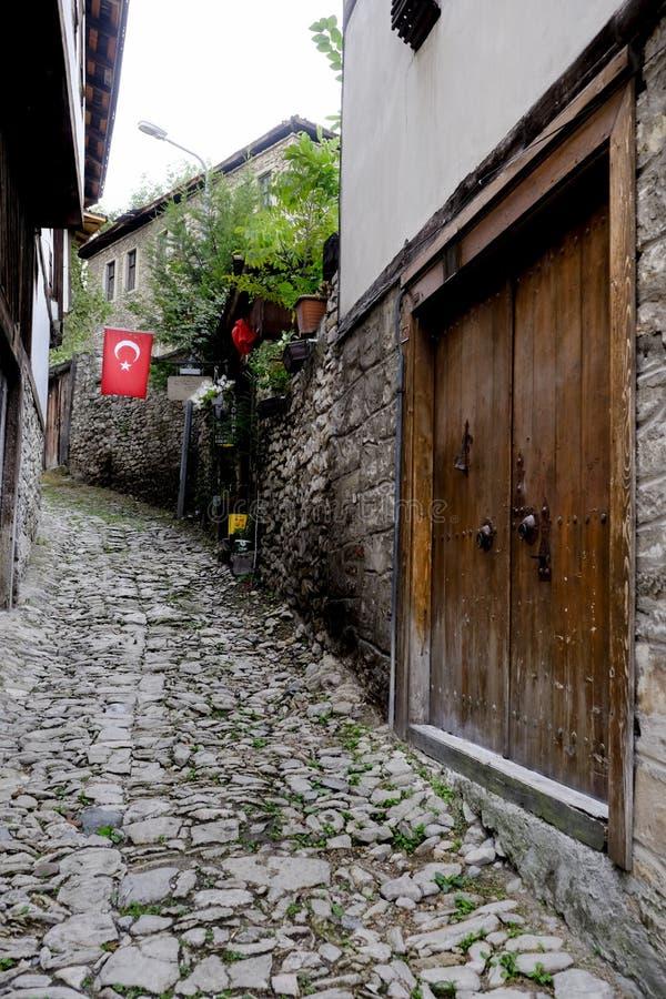 街道在番红花城 图库摄影