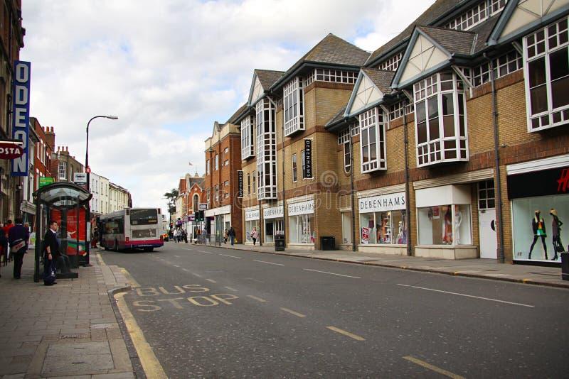 街道在科尔切斯特 库存照片