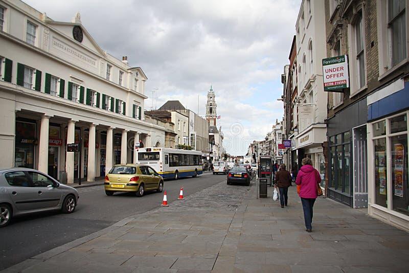 街道在科尔切斯特 库存图片