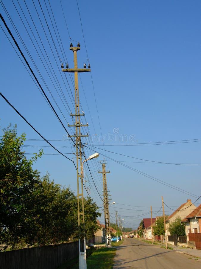 街道在老罗马尼亚村庄Aurel Vlaicu 免版税图库摄影