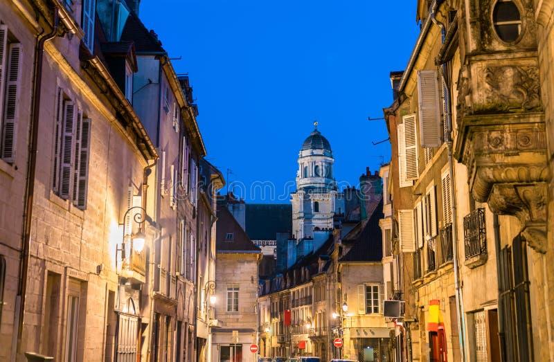 街道在老镇第茂,法国 图库摄影