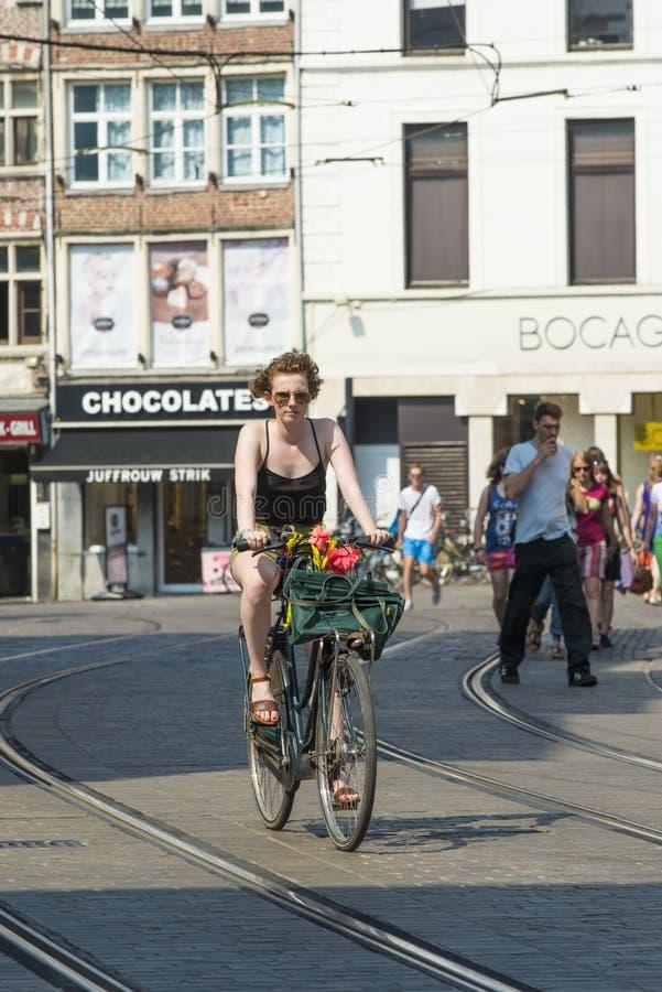 街道在跟特比利时 库存图片