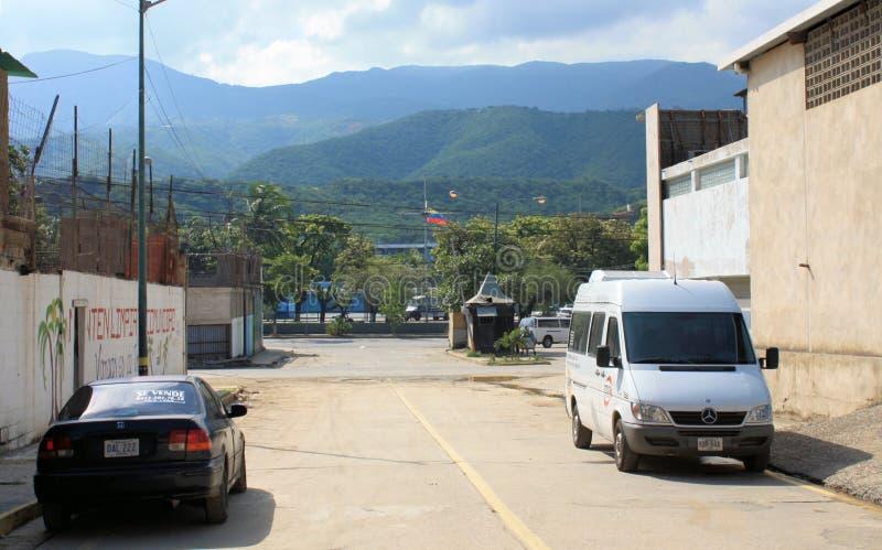 街道在近的首都加拉加斯 免版税库存照片