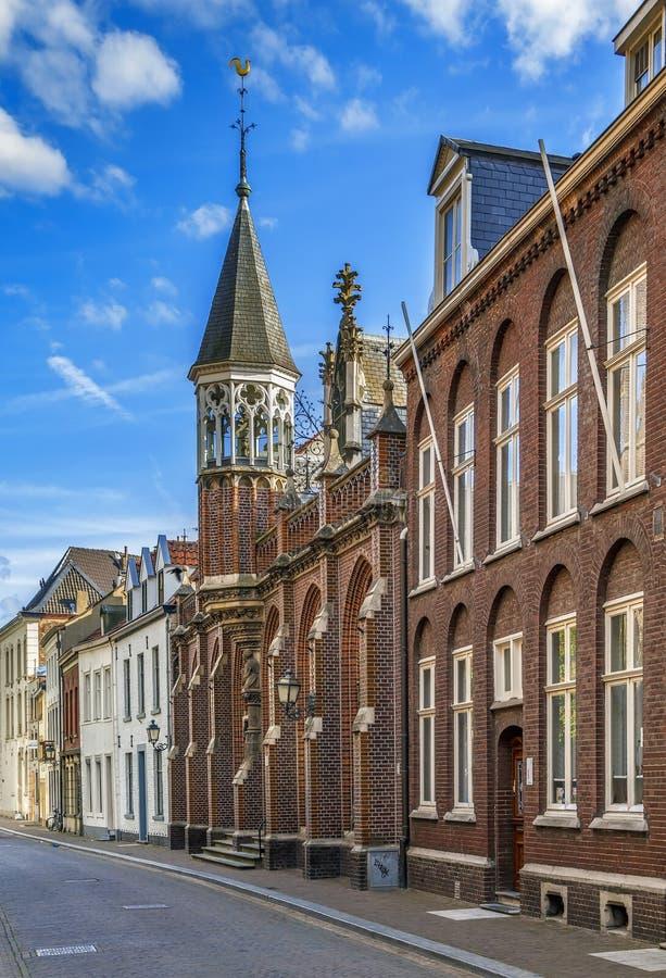 街道在锡塔德,荷兰 免版税图库摄影