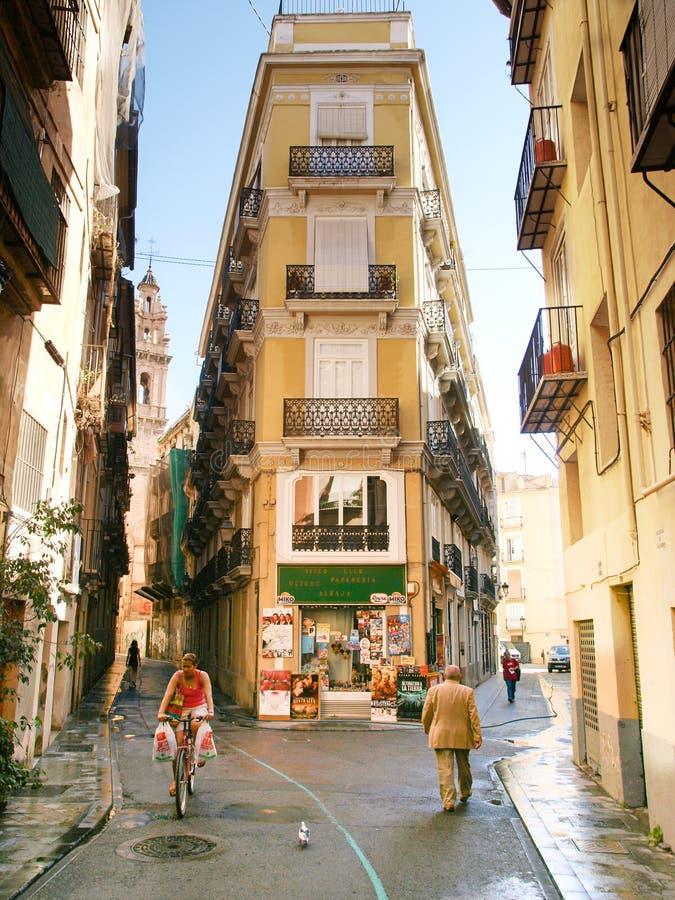 街道在巴伦西亚,西班牙 库存图片