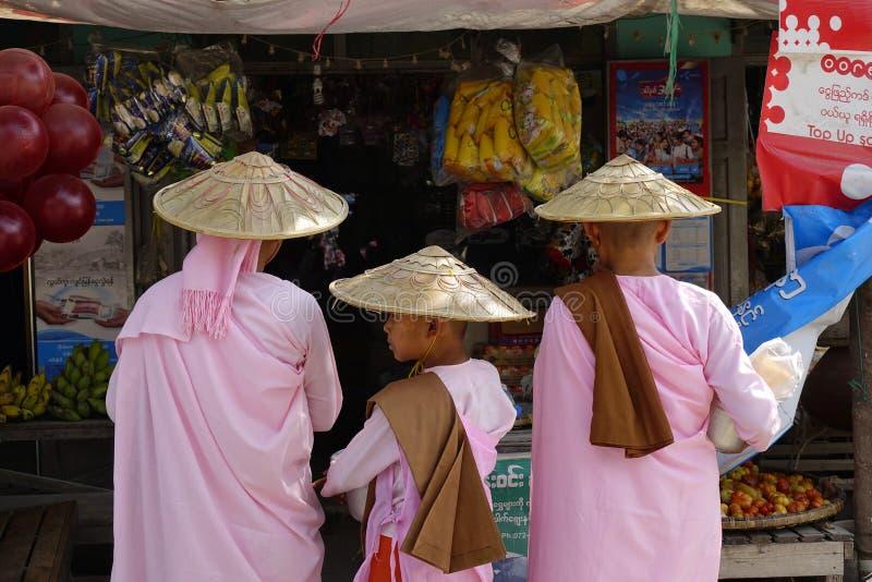 街道在仰光,缅甸 库存照片
