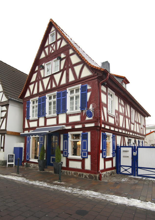 街道在巴德菲尔贝尔 德国 免版税库存图片