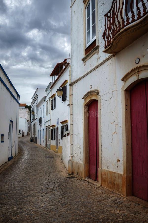 街道在Alte村庄 免版税库存图片