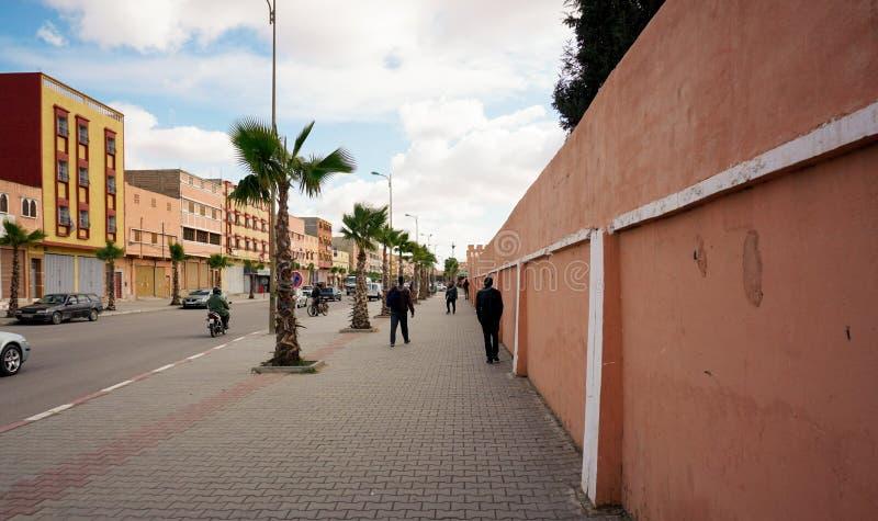 街道在Biougra,阿加迪尔,摩洛哥 库存图片
