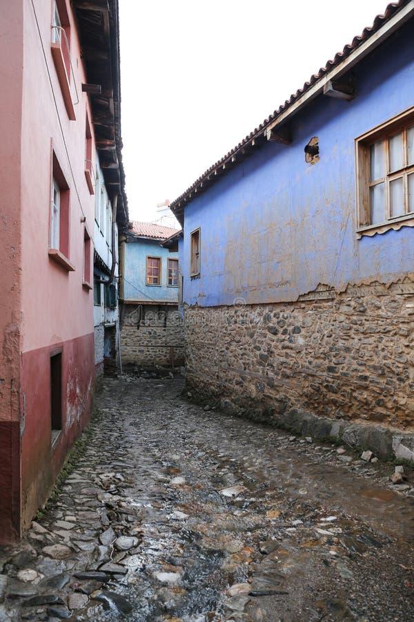 街道在Cumalikizik村庄,伯萨,土耳其 库存图片