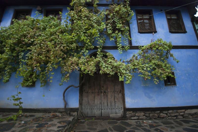 街道在Cumalikizik村庄 免版税库存图片